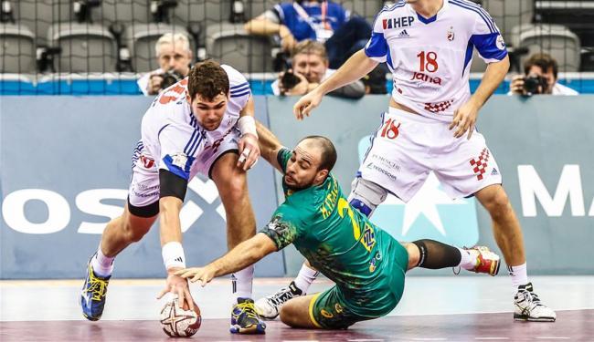 Equipe brasileira não conseguiu deter a Croácia - Foto: Wander Roberto | Photo&Grafia | CBHb