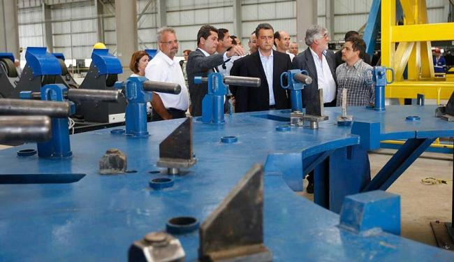 Governador Rui Costa participou da inauguração da fábrica de torres eólicas em Jacobina - Foto: Divulgação  Mateus Pereira/GOVBA