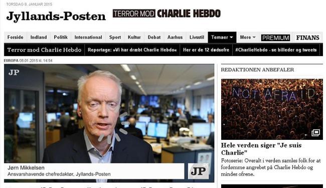 Reprodução da página na web do Jyllands-Posten com a entrevista - Foto: Reprodução