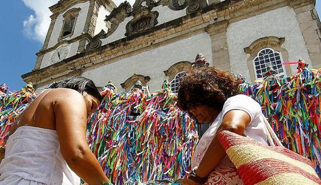 Este ano, a igreja ficará de portas abertas para veneração da imagem do Senhor do Bonfim até as 18h - Foto: Marco Aurélio Martins | Ag. A TARDE