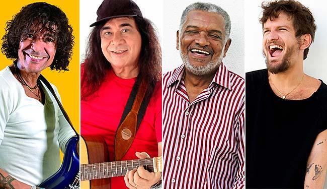 Luiz Caldas, Zelito Miranda, Nelson Rufino e Saulo são algumas das atrações - Foto: Divulgação