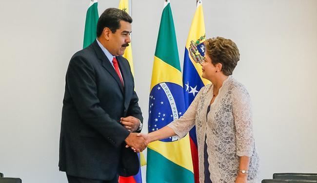 Reunião com Maduro, presidente da Venezuela,foi sobre cooperação dos dois governos - Foto: Roberto Stuckert/PR