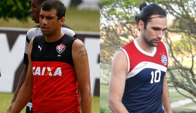 Neto Baiano (E) fez gols importantes no Sport, enquanto Léo Gamalho é ídolo no Náutico - Foto: Fernando Amorim | Ag. A TARDE
