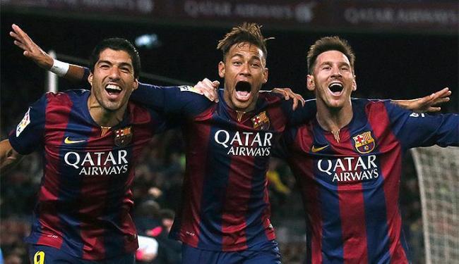 Trio Neymar (C), Messi (D) e Suarez dão vitória ao Barça - Foto: Albert Gea l Reuters