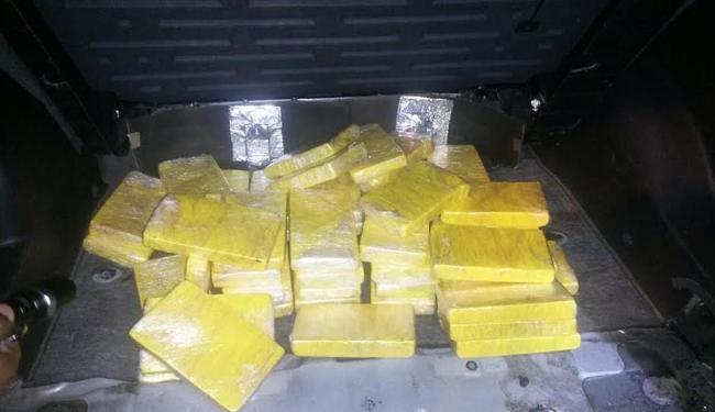 Motorista disse que a cocaína vinha de Jequié com destino a Feira de Santana - Foto: Divulgação | Polícia Federal