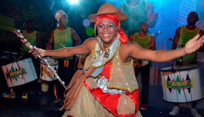 Dayse Barreto foi eleito deusa do bloco Muzenza - Foto: Gilberto Silva   Divulgação