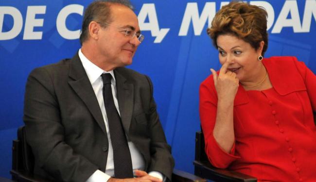 Renan diz que não vai aceitar ser deixado de lado por Dilma no segundo escalão - Foto: Renato Costa   AE