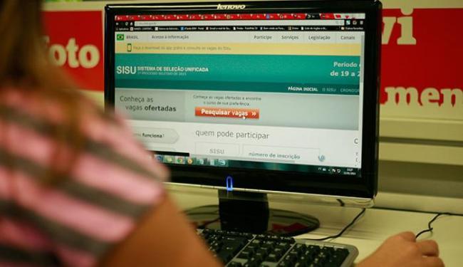 Sisu oferece 205.514 vagas em 5.631 cursos - Foto: Joá Souza | Ag. A TARDE