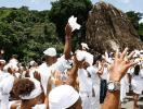 Pedra de Xangô é homenageada durante caminhada - Foto: Marco Aurélio Martins l Ag. A TARDE