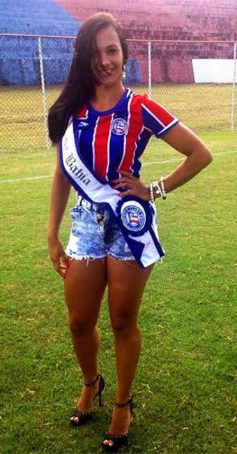 Anne Santos foi nomeada como a nova concorrente ao posto de Musa do Baianão pelo clube - Foto: Divulgação l E.C. Bahia