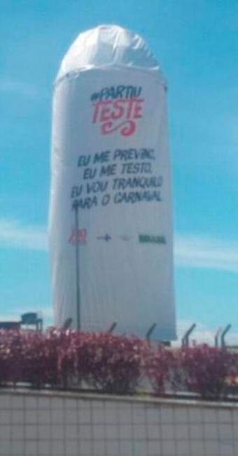 Monumento alerta para prevenção da Aids - Foto: Reprodução   Internet