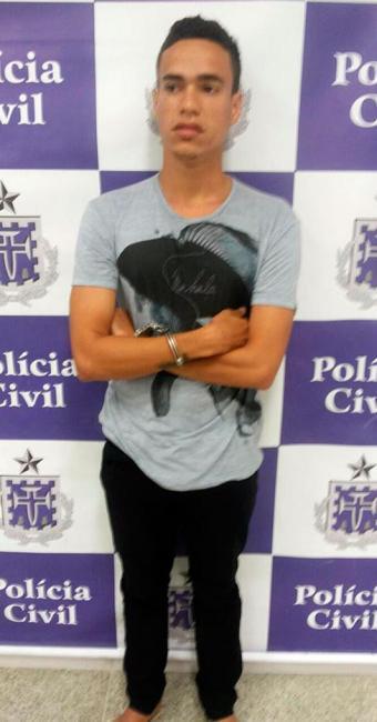 Jovem foi preso na noite desta quinta-feira - Foto: Divulgação   Polícia Civil