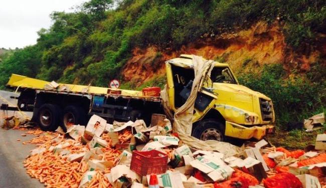 A carga era levada da cidade de Irecê para o município de Juazeiro - Foto: Reprodução: Blog Maravilha Notícias