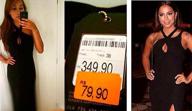 Internautas criticam vestido usado por Anitta ter sido de rede popular - Foto: Instagram   Reprodução