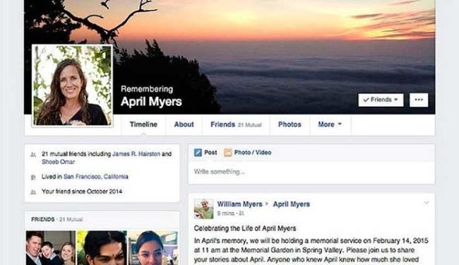 Facebook vai permitir que amigo cuide do perfil de usuário que falecer - Foto: Reprodução