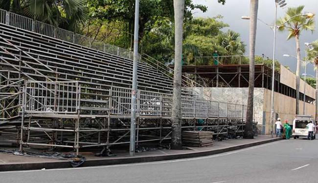 Arquibancada fica no Campo Grande - Foto: Joa Souza | Ag. A TARDE 21.01.2013