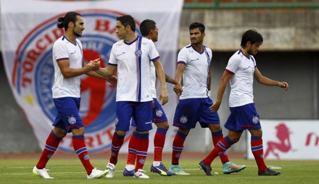 Tricolor abriu o placar mas sofreu dois gols nos três minutos iniciais do segundo tempo - Foto: Eduardo Martins | Ag. A TARDE