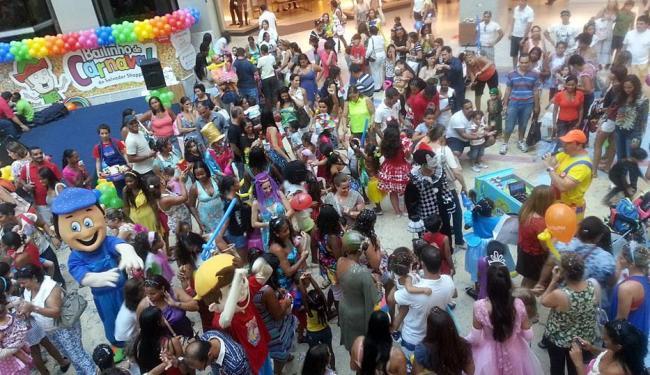 Bailinho lotou a praça central do Salvador Shopping - Foto: Divulgação