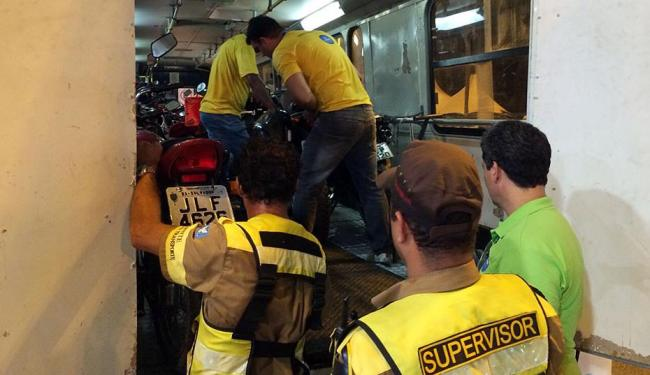 Somente na noite desta terça, 17, foram removidas 33 motos - Foto: Divulgação | Transalvador