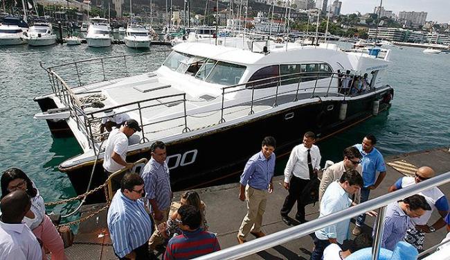 O catamarã Caymmi fez viagem inaugural ao município de Madre de Deus na quinta - Foto: Luciano da Matta l Ag. A TARDE