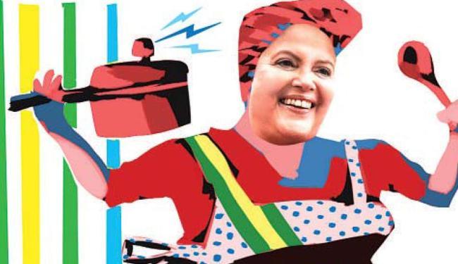 Dilma diz que faz ajustes na economia como uma dona de casa - Foto: Cau Gomez | Editoria de Arte A TARDE