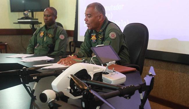 Grupamento aéreo da PM recebeu operadores de drone para orientações de segurança no Carnaval - Foto: Divulgação | Alberto Coutinho/GOVBA