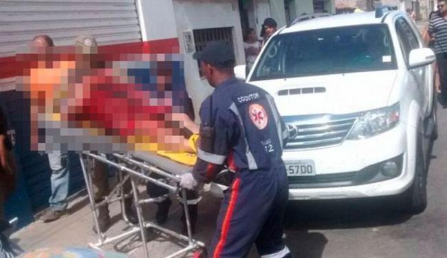 Empresário foi atingido ao estacionar uma caminhonete na rua Visconde de Mauá - Foto: Reprodução | Blog do Anderson