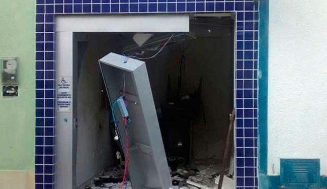 Local onde caixa eletrônico funciona fica ao lado da delegacia de polícia de Várzea do Poço - Foto: Divulgação | Polícia Civil