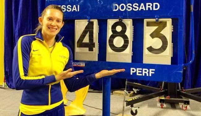 Fabiana exibe registro do recorde - Foto: Divulgação | Facebook