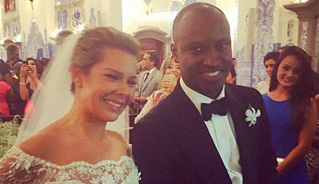 Fernanda não esperava ver o noivo cantando para ela em alguns momentos da celebração - Foto: Instagram | Reprodução