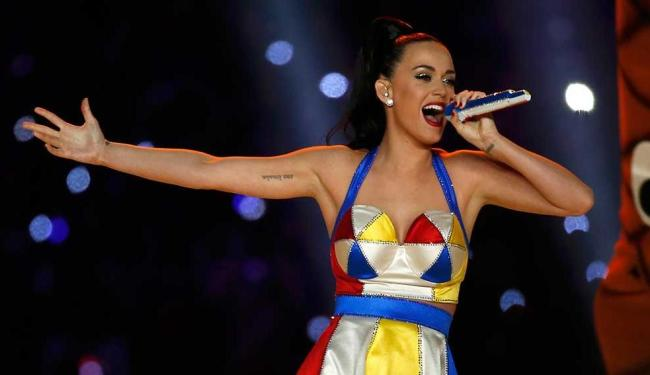 Katy Perry durante apresentação no Super Bowl - Foto: Lucy Nicholson   Agência Reuters