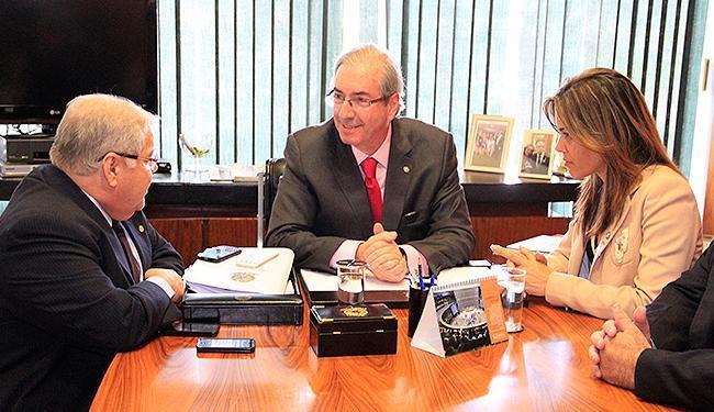 Maria Quitéria Mendes reuniu-se, em Brasília, com o presidente da Câmara, Eduardo Cunha (PMDB) - Foto: Ascom l UPB