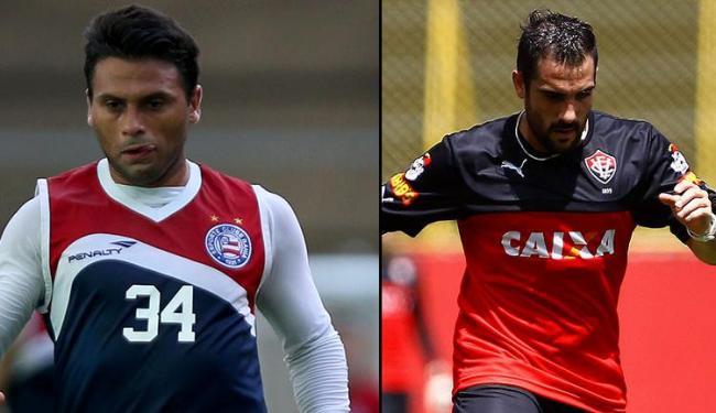Dupla jogou 2013 no Vitória - Foto: Felipe Oliveira   EC Bahia   Divulgação   Eduardo Martins   Ag. A TARDE