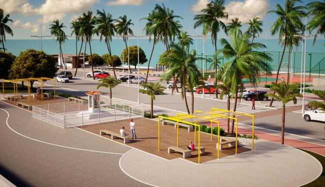 Em Ondina, a quadra esportiva será reformada e haverá mais bancos e bicicletário - Foto: Divulgação