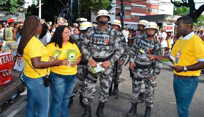 PMs e agentes da Semur atuam no combate às discriminações nos três circuitos do Carnaval - Foto: Divulgação | Polícia Militar