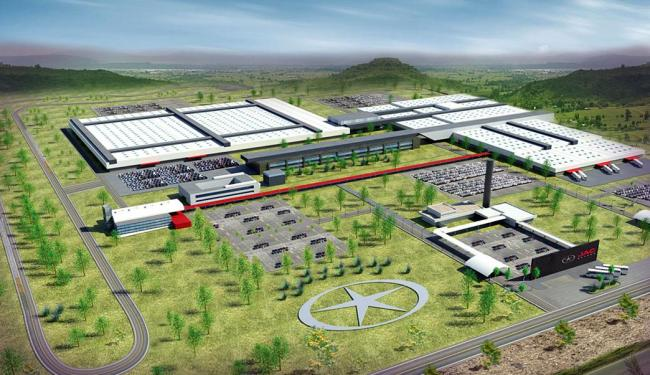 Projeto da fábrica de carros do grupo chinês no Polo Industrial de Camaçari - Foto: Ascom SICM   Divulgação