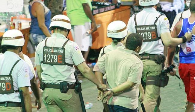 Nos seis dias da folia, houve 114 prisões em flagrante - Foto: Joá Souza | Ag. A TARDE