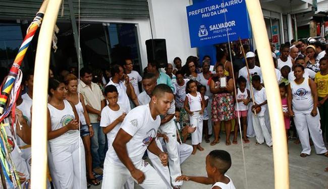 Durante a inauguração da sede houve apresentação cultural com capoeiristas - Foto: Marco Aurélio Martins | Ag. A TARDE