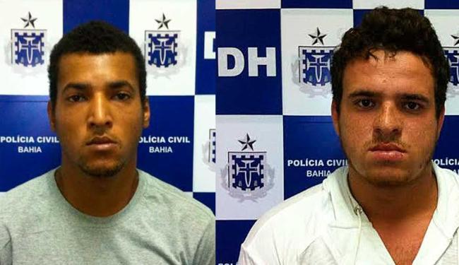 Renato(esq) e Rodolfo(dir) já passaram pela polícia por receptação de veículo e porte ilegal de arma - Foto: Divulgação | Polícia Civil