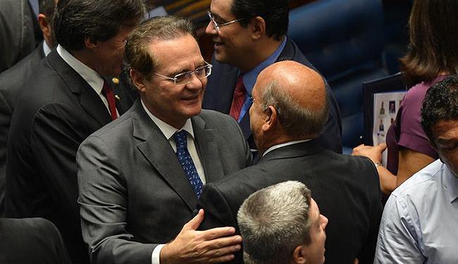 Renan Calheiros é eleito para o segundo mandato - Foto: Antônio Cruz l Agência Brasil