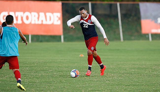 Capitão do time, o zagueiro Titi treina no Fazendão - Foto: Fernando Amorim | Ag. A TARDE