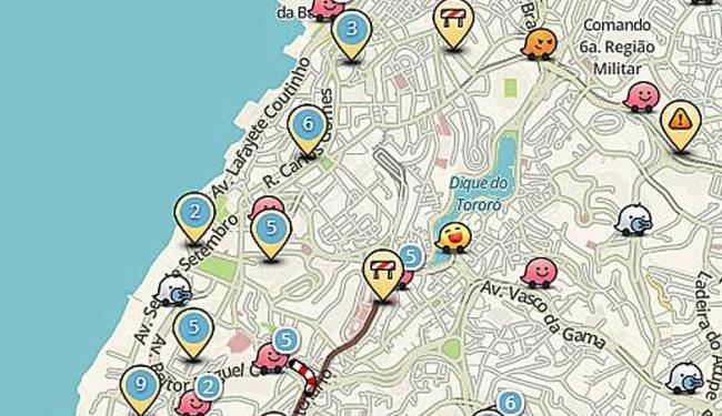 Waze posiciona internauta no trânsito de Salvador; confira - Foto: Reprodução
