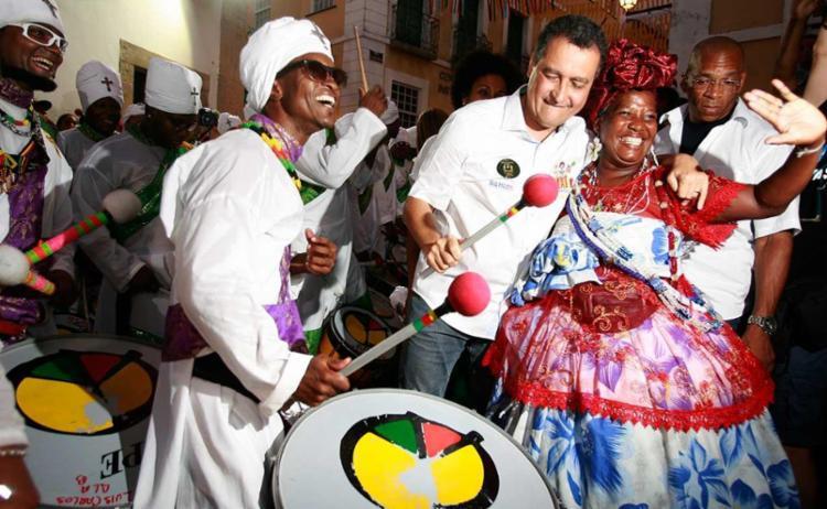 Músicos do afro Olodum, que festeja 38 anos nesta terça-feira, 25 - Foto: Joá Souza | Ag. A TARDE