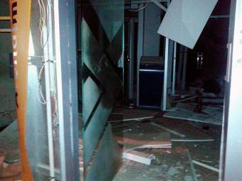 Agência ficou completamente destruída - Foto: Reprodução | Água Fria Acontece