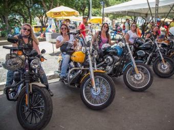 O grupo Ladies of the Harley se reúne para comemorar o Dia Internacional da Mulher - Foto: Jardel Souza| Arquivo Pessoal