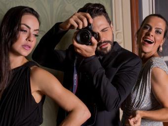 No elenco, Lis Luciddi, Ciro Sales e Mariana Moreno - Foto: Tati Freitas   Divulgação