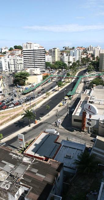 Vista aérea da avenida Centenário, que faz parte do bairro - Foto: Fernando Amorim | Ag. A TARDE