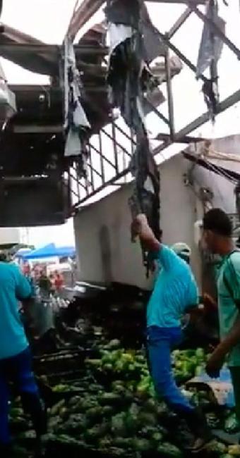 Fogo foi provocado por vazamento de gás - Foto: Reprodução   Youtube
