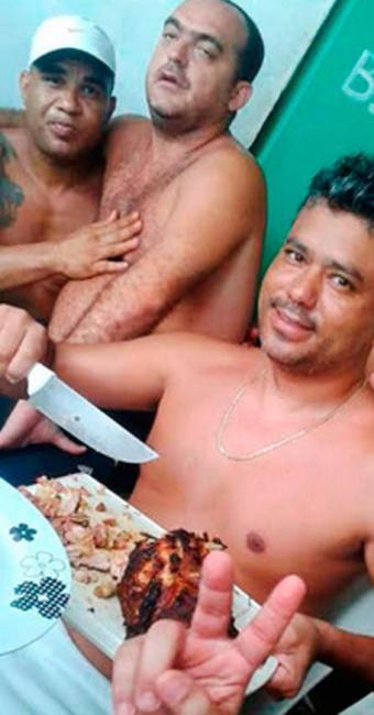 Além de regalias, presos tem acesso a faca durante churrasco - Foto: Divulgação | Sinspeb-BA