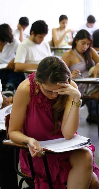 Exame avalia o rendimento dos estudantes ingressantes e concluintes dos cursos de graduação - Foto: Xando Pereira | Ag. A TARDE